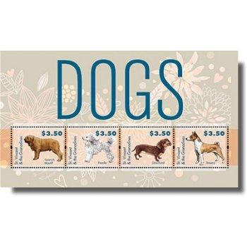 Hunde - Briefmarken-Block postfrisch, St. Vincent & Grenadinen