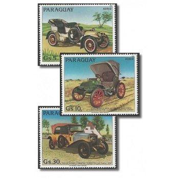 Alte Automobile - 3 Briefmarken postfrisch, Katalog-Nr. 3640-3642, Paraguay