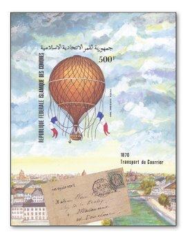 150 years Ballon Montè - block imperforate, Comoros