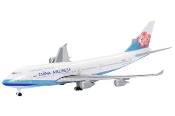 Modell-Flugzeug:Boeing 747-400 - China Airlines -(Schuco, 1:600)