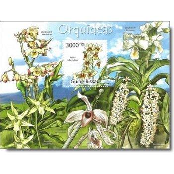 Orchideen - Briefmarken-Block postfrisch, Guinea-Bissau