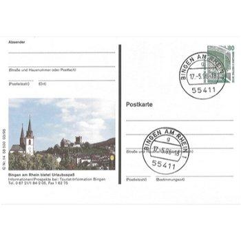 6530 Bingen am Rhein - picture postcard & quot; Partial view of the city & quot;