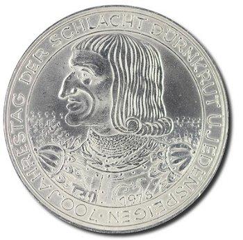 """100-Schilling-Münze """"700. Jahrestag der Schlacht bei Dürnkrut und Jedenspeigen"""", Österreich"""