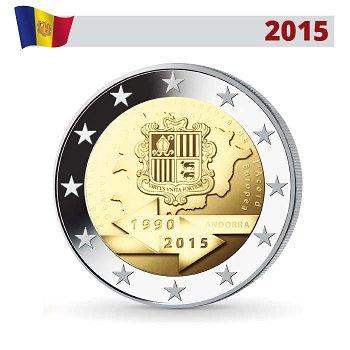 25 Jahre Zollunion, 2 Euro Münze 2015, Andorra