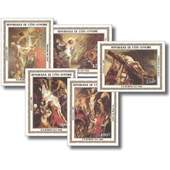 """Ostern """"Gemälde von Peter Paul Rubens"""" - 5 Briefmarken ungezähnt postfrisch, Katalog-Nr. 7"""