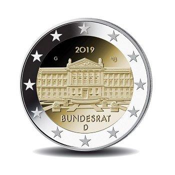 70 Jahre Bundesrat, 2 Euro 2019, 1 Prägezeichen, Deutschland