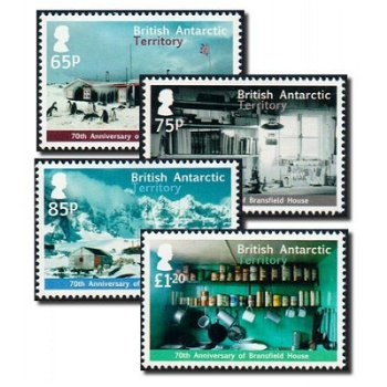 Bransfield House - 4 Briefmarken postfrisch, BAT