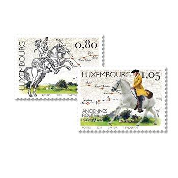 Europa 2020: Historische Postwege - 2 Briefmarken postfrisch, Luxemburg