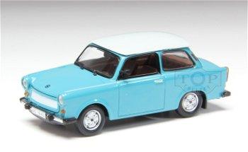 Modellauto:Trabant 601 de Luxe, türkis-weiß(IST Models, 1:43)