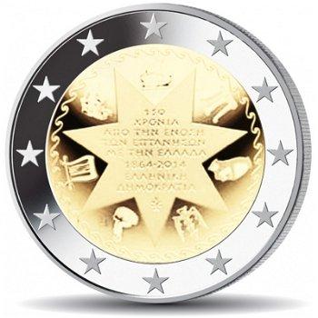 Vereinigung mit den Ionischen Inseln, 2 Euro Münze 2014, Griechenland