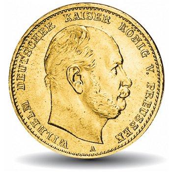 10 Mark Goldmünze, König Wilhelm I., Katalog-Nr. 242, Königreich Preußen,