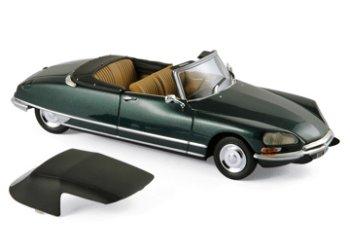 Modellauto:Citroen DS 21 Cabriolet von 1971, grün(Norev, 1:43)