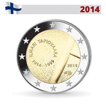 100. Geburtstag Ilmari Tapiovaara, 2 Euro Münze 2014, Finnland