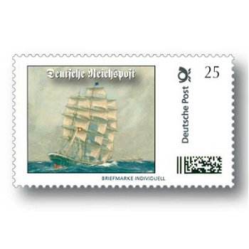 Sailing ship / Deutsche Reichspost - brand individually mint never hinged, Germany