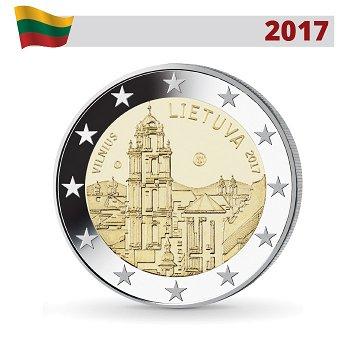 Vilnius, Stadt der Kultur und Kunst, 2 Euro Münze 2017, Litauen