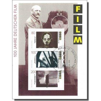 100 Jahre Deutscher Film, Block 33 gestempelt, Katalog-Nr. 1815-17, Bundesrepublik