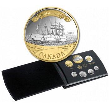Kursmünzensatz 2016 Polierte Platte, mit Silbermünze Great Eastern, Canada