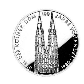 """5-DM-Münze """"100 Jahre Kölner Dom"""", Polierte Platte"""