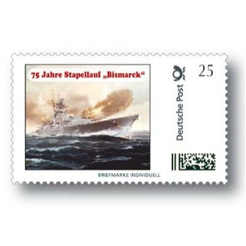 75 years of launch & quot; Bismarck & quot; - Individual brand mint, Germany