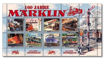 Eisenbahnen: 160 Jahre Märklin - Kleinbogen postfrisch, Liechtenstein