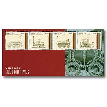 Klassische Dampflokomotiven - Briefmarken-Block postfrisch, St. Vincent