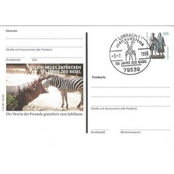"7850 Lörrach - Bildpostkarte ""125 Jahre Zoo Basel"""