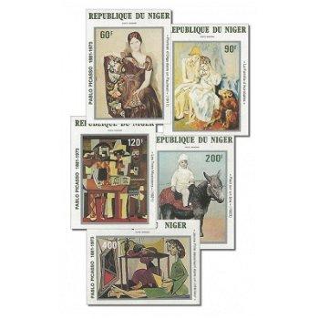 100. Geburtstag von Pablo Picasso - 5 Briefmarken ungezähnt postfrisch, Katalog-Nr. 752-756, Niger