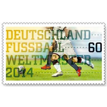 Germany soccer world champions 2014 - postage stamp mint, federal government