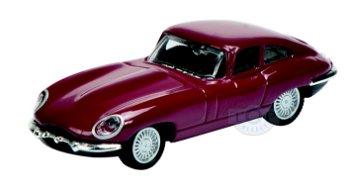 Modellauto:Jaguar E-Type, dunkelrot(Schuco, 1:87)