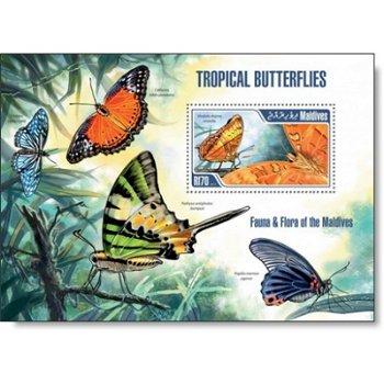 Schmetterlinge - Briefmarken-Block postfrisch, Malediven