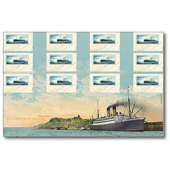 Schiffe: Empress of Ireland - Großbogen postfrisch mit Geheimschrift, Canada