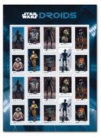 Star Wars: Droiden - Briefmarken-Kleinbogen postfrisch, USA