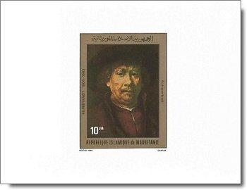 Rembrandt-Gemälde - 4 Luxusblocks postfrisch, Katalog-Nr. 686-689, Mauretanien