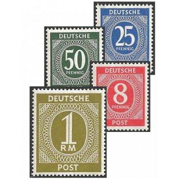 Zifferserie - 27 Briefmarken postfrisch, Katalog-Nr. 911-37, Alliierte Besetzung