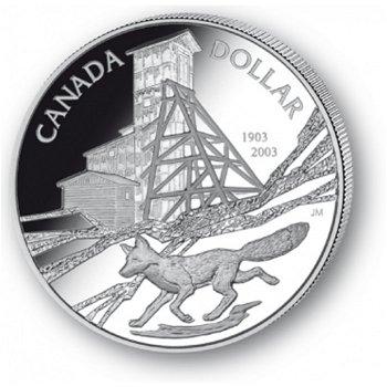 Silbermine Cobalt - Silberdollar 2003, 1 Dollar Silbermünze, Canada