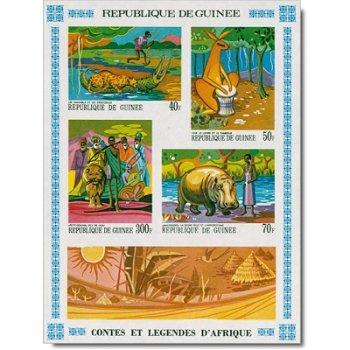 Geschichten und Legenden Afrikas - Briefmarken-Block postfrisch, Guinea