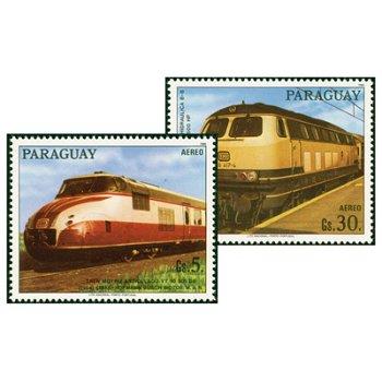 Eisenbahn - zwei Briefmarken, Paraguay