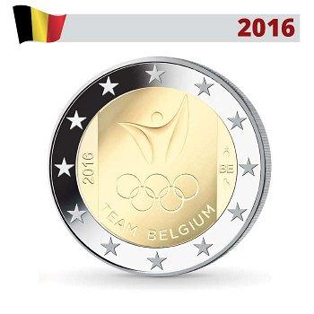 Sommerspiele 2016 Rio, 2 Euro Münze 2016, Belgien
