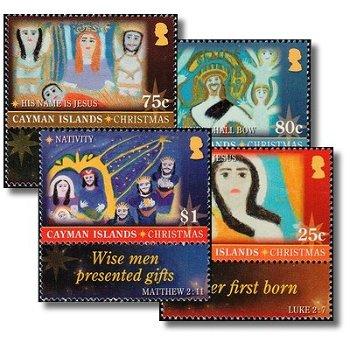 Weihnachten: Kinderzeichnungen - 4 Briefmarken postfrisch, Katalog-Nr. 1238-1241, Kaiman-Inseln