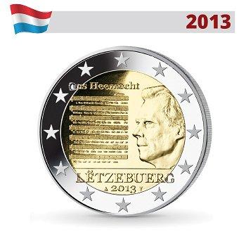 2 Euro Münze 2013, Nationalhymne des Großherzogtums, Luxemburg