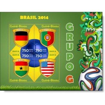 Fußball-Weltmeisterschaft, Gruppe G - Briefmarken-Block postfrisch, Guinea-Bissau