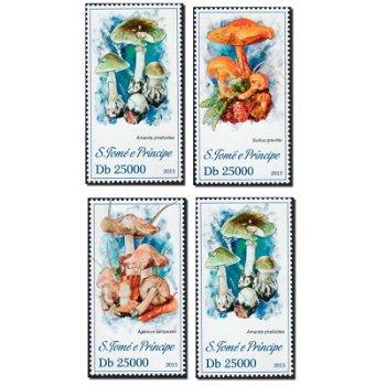 Pilze - 4 Briefmarken postfrisch, St. Thomas