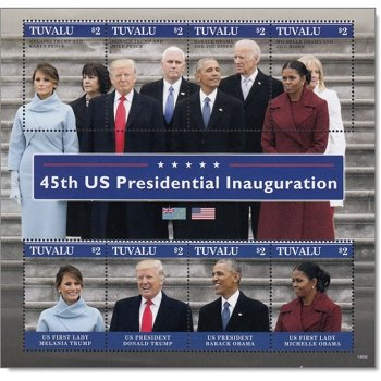 US-Präsident Donald Trump: Amtseinsetzung - Block postfrisch, Tuvalu