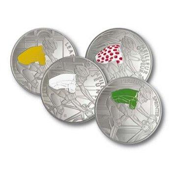 Tour de France, 4 Silbermünzen - Jubiläums-Münzkollektion, Frankreich