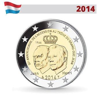 2-Euro-Münze 2014, 50. Jahrestag der Thronbesteigung, Luxemburg