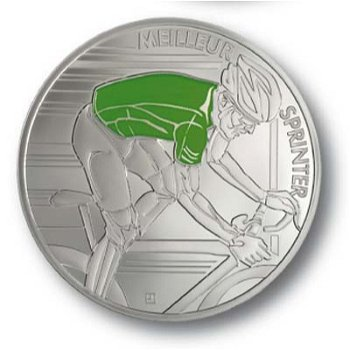 10-Euro-Silbermünze 100. Tour de France - Grünes Trikot, Frankreich