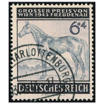 """Rennen um den """"Großen Preis von Wien"""" - 2 Briefmarken, Katalog-Nr. 857-58, gestempelt, Deu"""