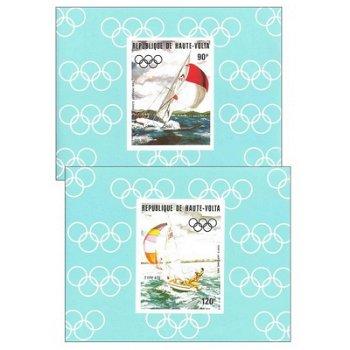 Olympische Sommerspiele 1984 - 4 Luxusblocks postfrisch, Katalog-Nr. 909-912, Obervolta