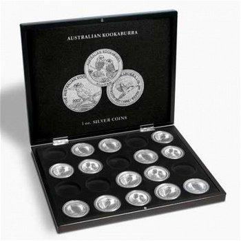 Münzkassette für 20 Silbermünzen/20 Kookaburra Silberunzen, schwarz, Leuchtturm 346441