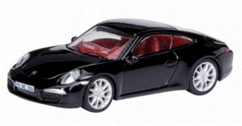 Modellauto:Porsche 911 (991) Carrera S, schwarz(Schuco, 1:87)